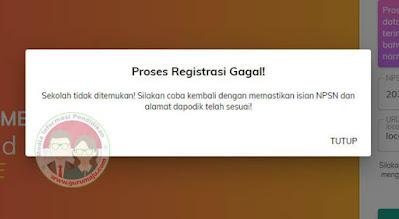 Registrasi PMP 2020 Gagal