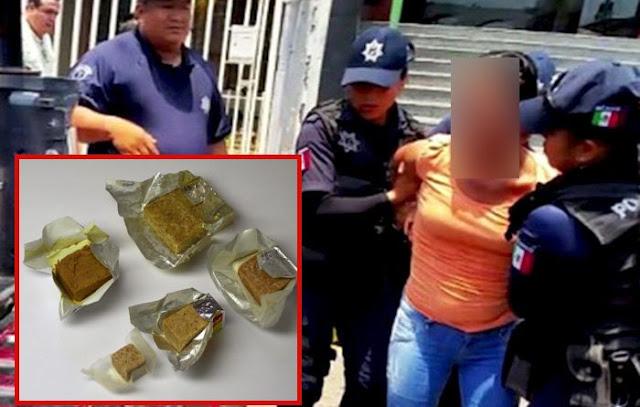 Mujer es detenida por robar cubitos de pollo