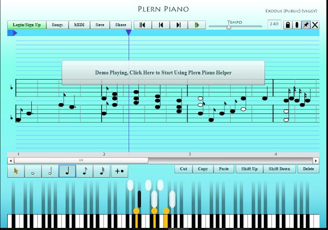 Plern Piano este un instrument online pentru invatat pianul