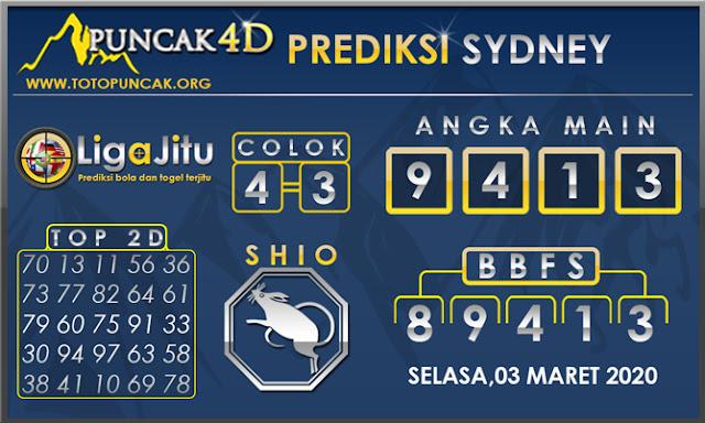 PREDIKSI TOGEL SYDNEY PUNCAK4D 03 MARET 2020