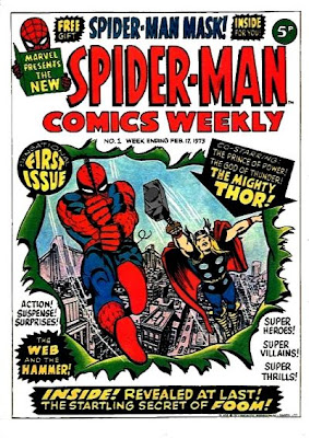Spider-Man Comics Weekly #1, Thor, Marvel UK