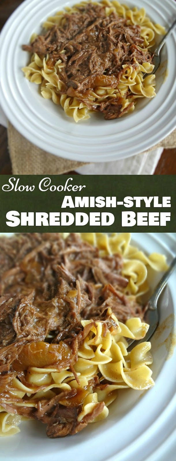 Slow Cooker Amish-style Shredded Beef