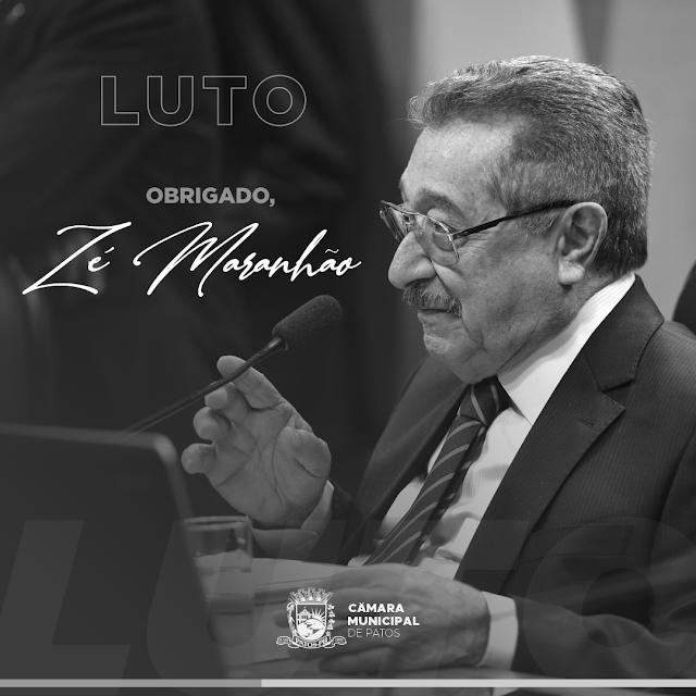 Câmara Municipal de Patos-PB, emite nota de pesar e lamenta a morte do Senador José Maranhão