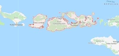 Peta Provinsi Nusa Tenggara Barat (NTB), Jumlah dan Daftar Nama Daerah Kota / Kabupaten di Provinsi Nusa Tenggara Barat (NTB)