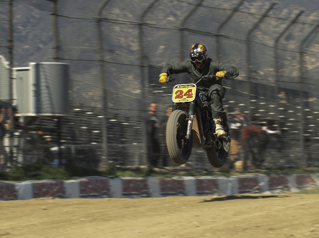 Airborne Indian Scout Flat Track Racer - Image by Kevin Pak
