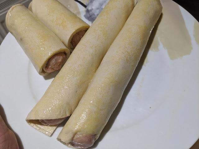 Lo-Dough sausage rolls