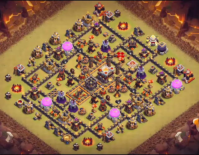 coc th10 base design anti everything for war