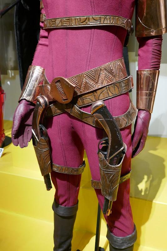 Zorii Bliss costume holster belt detail Rise of Skywalker