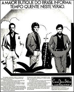 1975, moda anos 70. propaganda decada de 70. reclame anos 70. Oswaldo Hernandez.