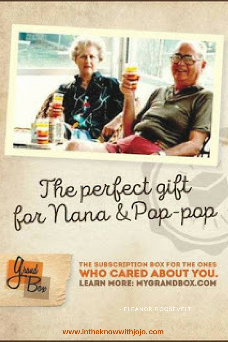 Send grandma and grandpa a GrandBox. The perfect gift for Grandparent's Day or just to show them how much they are loved!