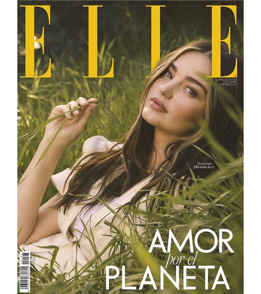 Miranda Kerr is fresh faced for Elle Spain April 2020