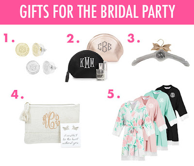 monogram gifts for bridesmaids