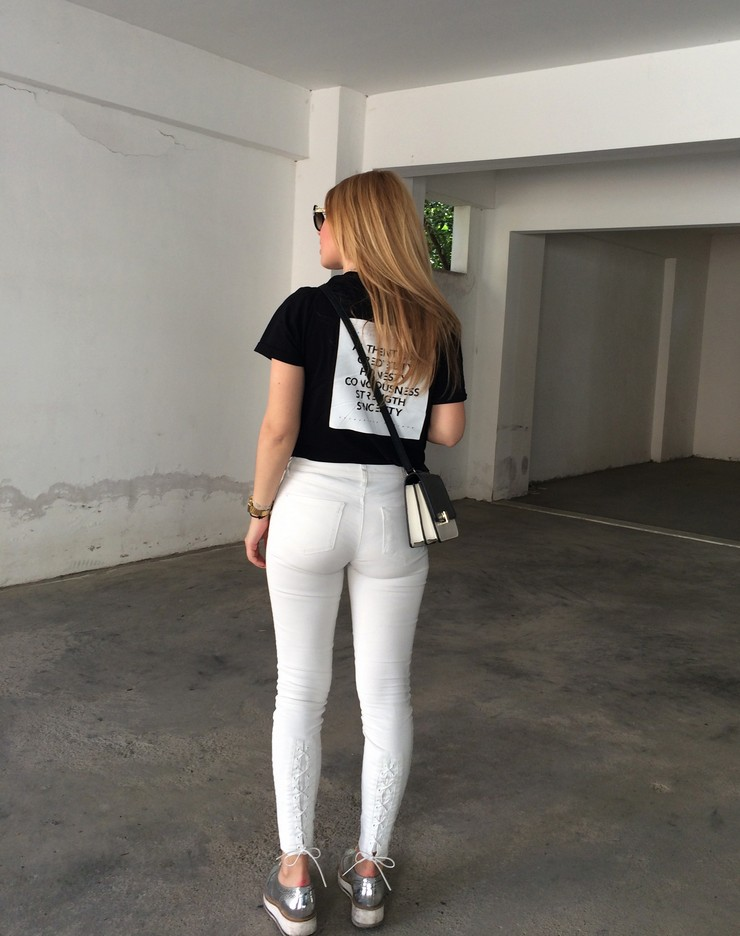 Sexy white pants for women