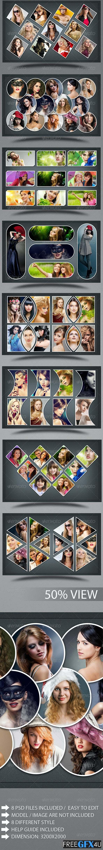 Collage Photo Frame PSD Template V3