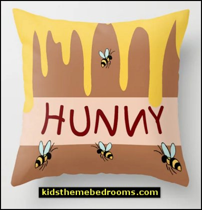 The Hunny Pot Throw Pillow winnie the pooh bedrroom decor
