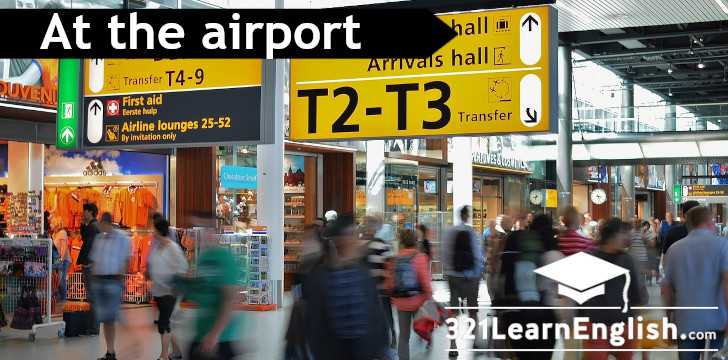 ESL vocabulary: at the airport (Level: B1)