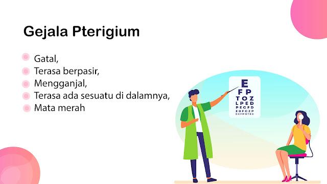 Gejala Pterigium