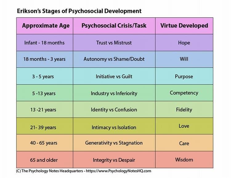 psihanalistul erik erikson stadiile dezvoltarii psihosociale