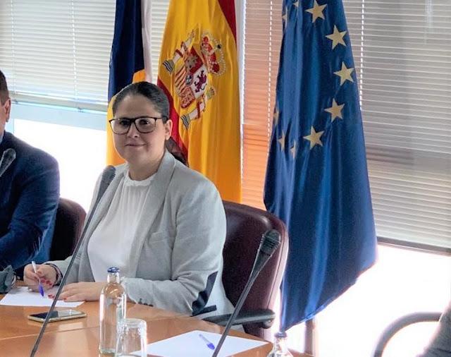 Esther%2BHernandez%2Ben%2BPuertos%2BCanarios - Fuerteventura.- Esther Hernández, alcaldesa de Tuineje  participa por primera vez en el Consejo Asesor de Puertos Canarios