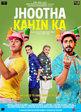 Poster Of Bollywood Movie Jhootha Kahin Ka 2019 300MB Pdvd Full Hindi Movie
