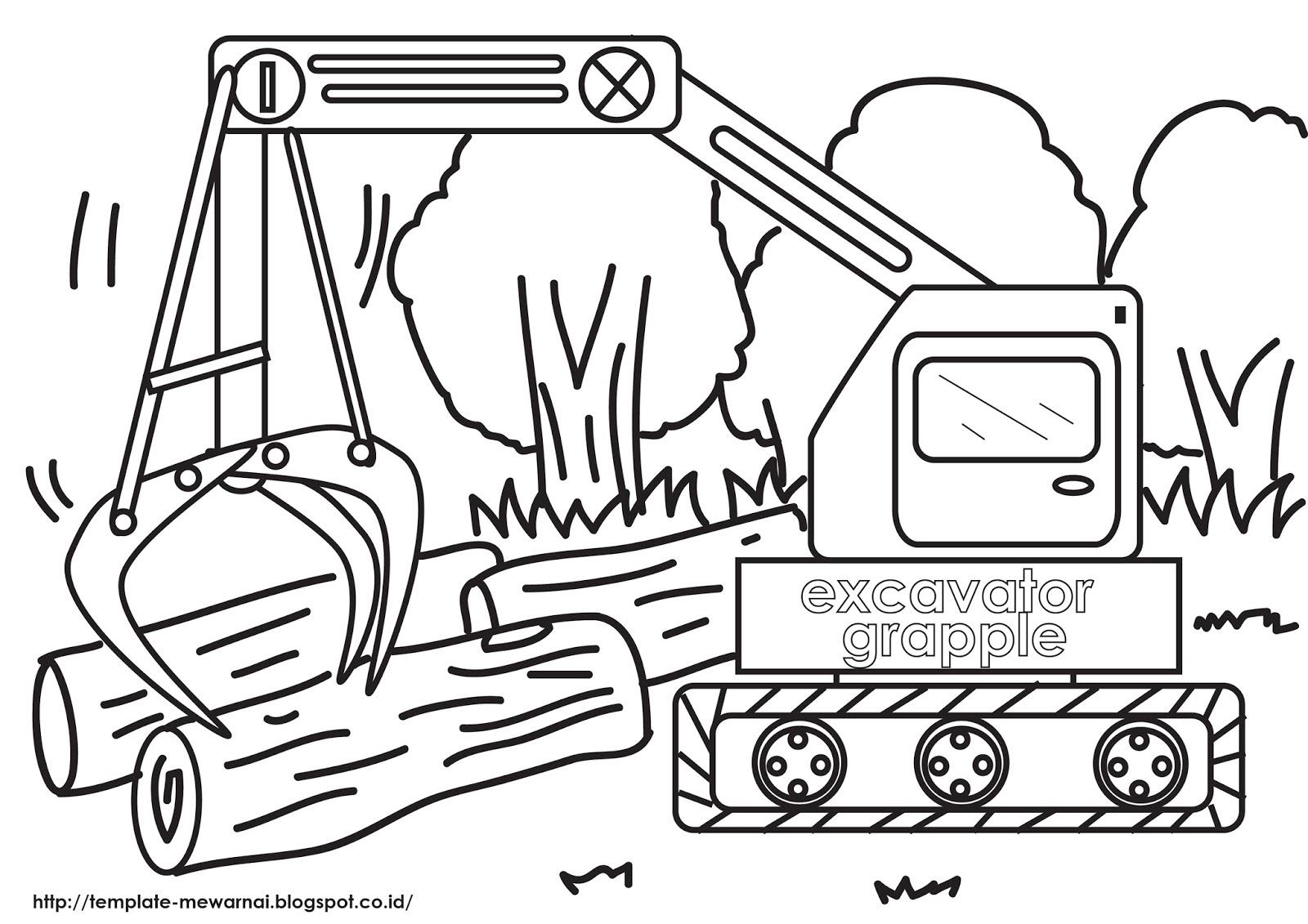 Seri Alat Berat Excavator Grapple