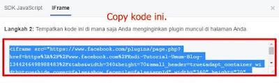 Cara memasang widget fanpage facebook terbaru