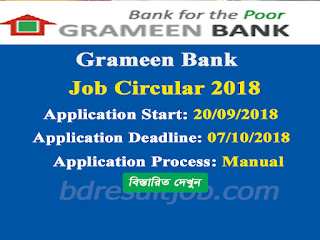Grameen Bank Job Circular 2018
