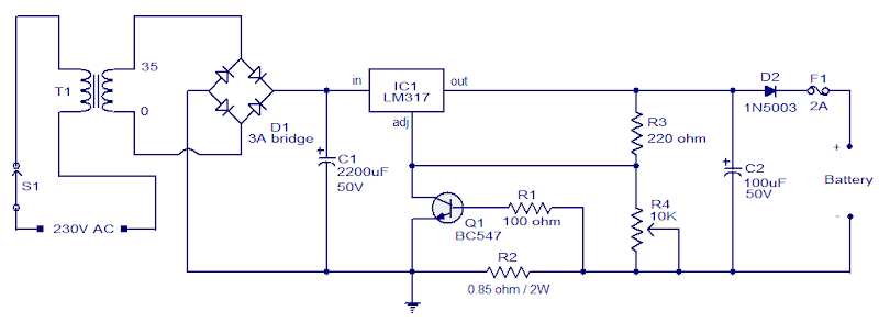 24v/7ah lead acid battery charger circuit