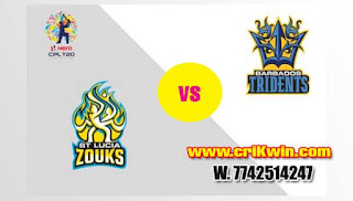 Who will win Today CPL T20 2019 17th Match Lucia Zouks vs Barbados
