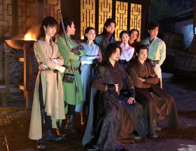 behind the scene at Douluo Continent production set