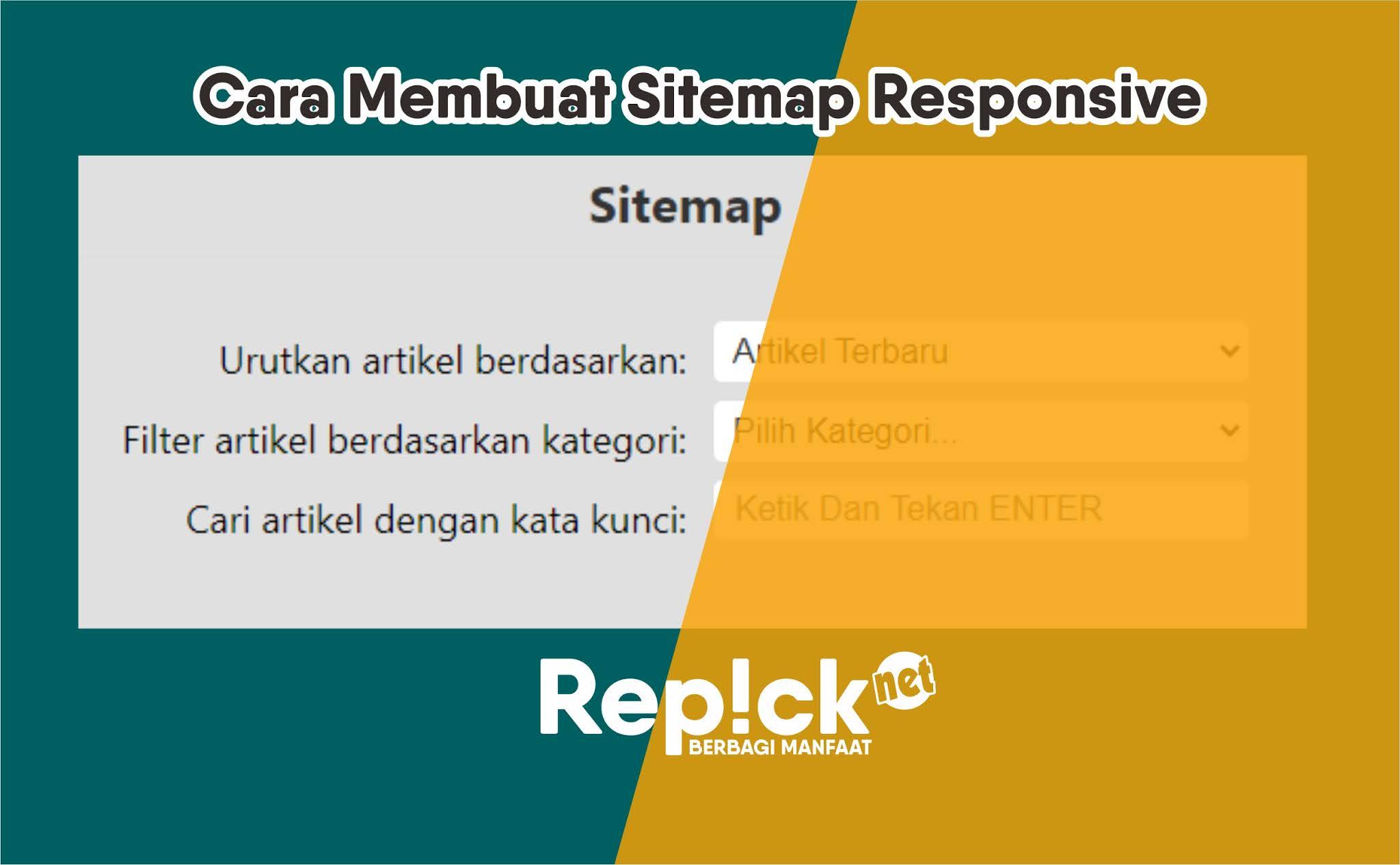 Cara Membuat Sitemap Responsive di Blogger