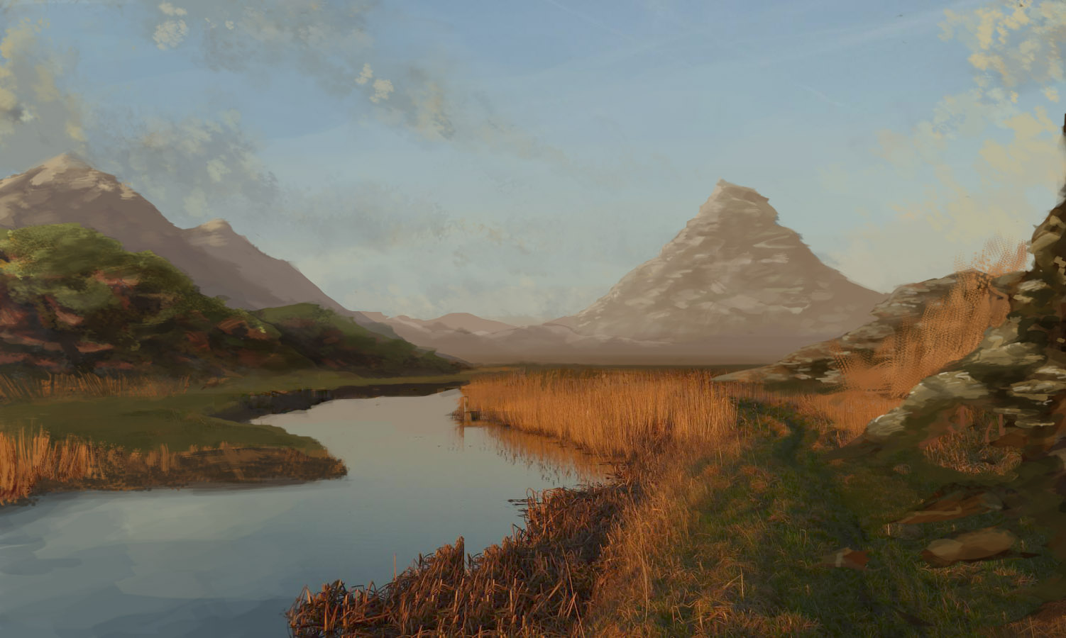 Matte painting concept blog quick matte painting for Matte painting