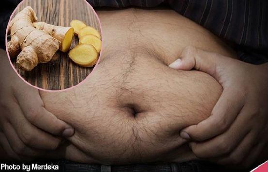 Cara mengecilkan dan mencegah perut buncit menggunakan jahe