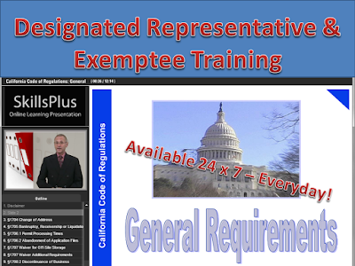 California Home Medical Device Retailer Exemptee Training Certification Course (HMDR). California Designated Representative Training Programs (wholesaler, 3PL)