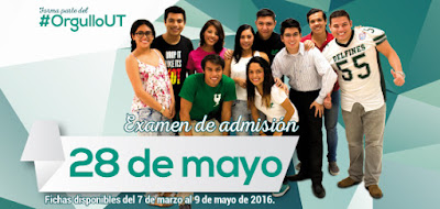Examen de admisión Universidad Tecnológica de Cancún UT 2016 28 de mayo