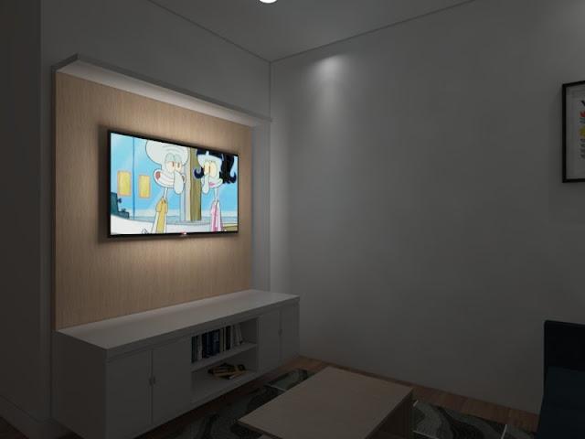 Cara Membuat Efek Layar TV/Komputer Menyala Pada VRay Sketchup