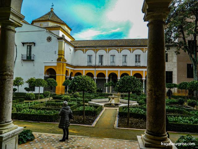 Casa de Pilatos, palácio andaluz em Sevilha, Andaluzia, Espanha
