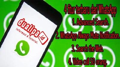 4 fitur terbaru dari WhatsApp
