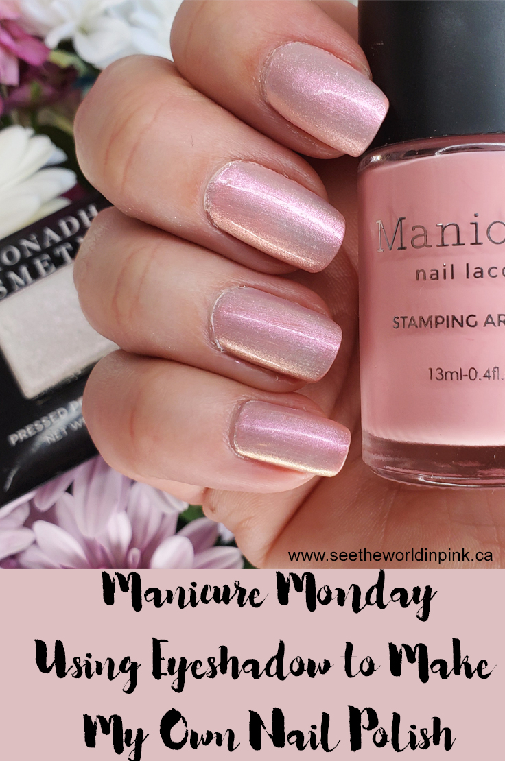 Manicure Monday - Using Eyeshadow To Make My Own Nail Polish