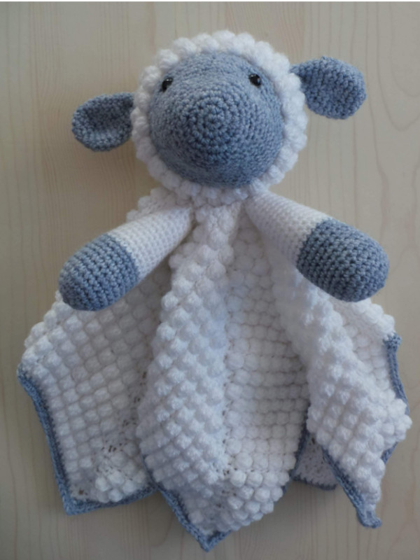 fcc52a08c3b89 Crochet Pattern: Snuggle Lamb Baby Lovey Security Blanket - Crafting ...