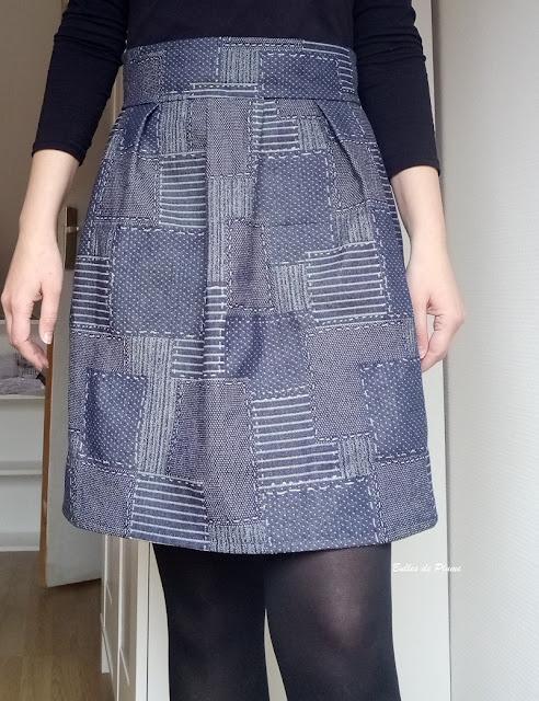 Bulles de Plume - jupe à plis creux couture facile