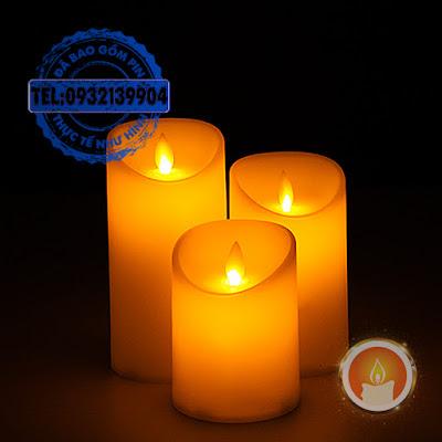 Đèn cầy điện tử chất liệu nhựa tim đèn lắc lư