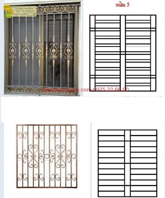 Mẫu khung sắt cửa sổ chung cư nghệ thuật