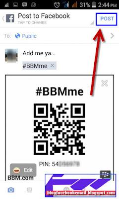 cara share nomer PIN BBM android
