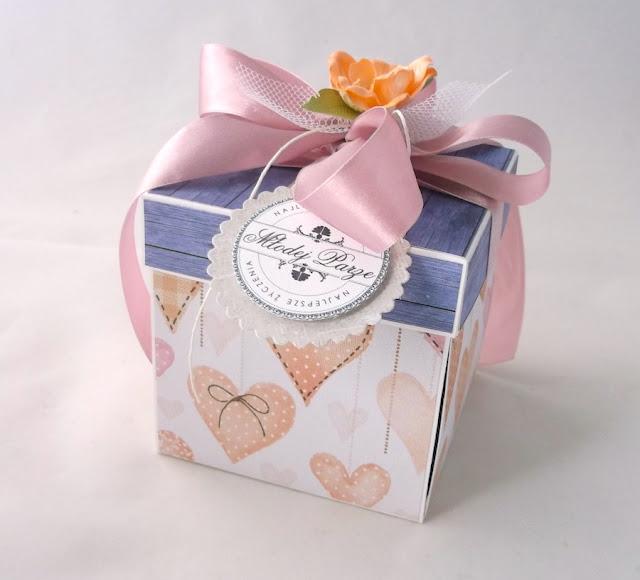 Pudełko na pieniądze ślubne - Serca