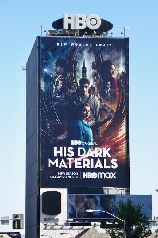 Giant His Dark Materials season 2 billboard