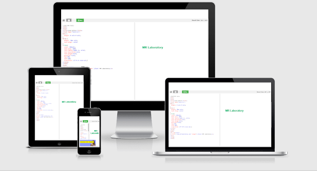 html css code test or run script for blogger
