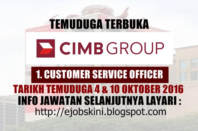 Temuduga Terbuka di CIMB Group Oktober 2016