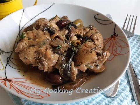 Заек с манатарки и маслини * Coniglio con olive e porcini