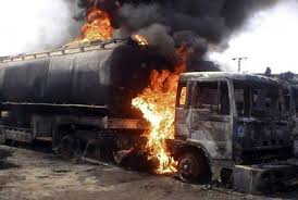 Horror As Petrol Tanker Explosion Kills Mother , Child In Onitsha
